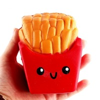 I Love Squishy: Fries Squishie Toy (10cm) - Assorted Colours