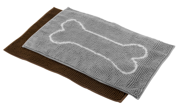 Pawise: Microfiber Chenille Dog Mat - 50x80cm/Charcoal