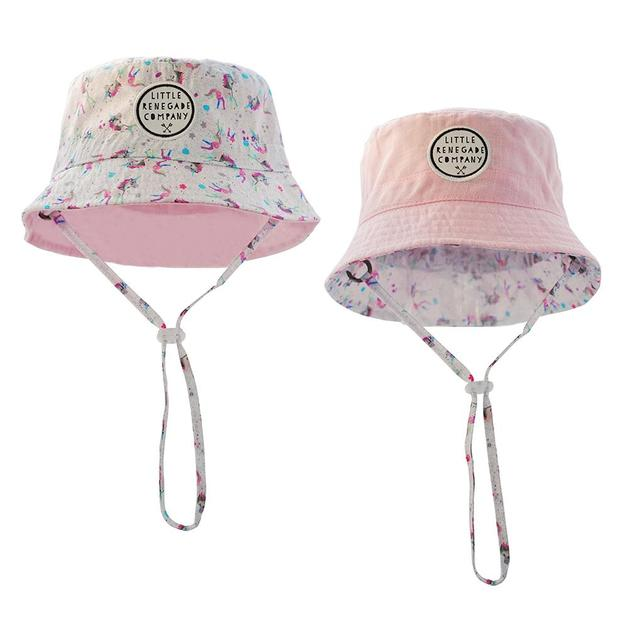 Little Renegade Company: Reversible Bucket Hat - Sparkles Unicorn (Maxi)
