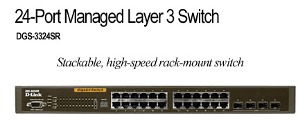 D-Link DGS-3324SR, 24 PORT GIGABIT LAYER 3, STACKABLE image