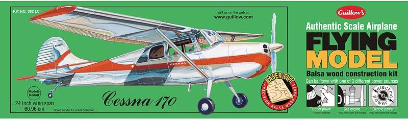 Cessna 170 1:18 Balsa Model Kit image