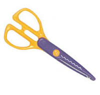 """Excel Craft Paper Scissors 7"""" - Concave/Concave Cut"""