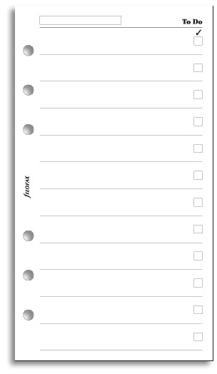 Filofax Personal - To Do Pad (20 Sheets)Filofax Personal - To Do Pad (20 Sheets)