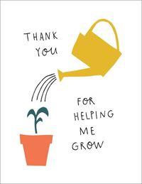 Badger & Burke: Helping Me Grow Greeting Card
