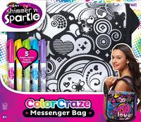 Shimmer 'n Sparkle: Colour Your Own - Messenger Bag