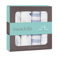 Aden + Anais Swaddle - Rock Star (4 pack swaddling wraps) image