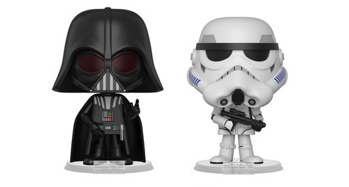 Darth Vader + Stormtrooper - Vynl. Figure 2-Pack image