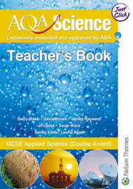 AQA Science GCSE: GCSE Applied Science (Double Award): Teacher's Book by Gerry Blake image
