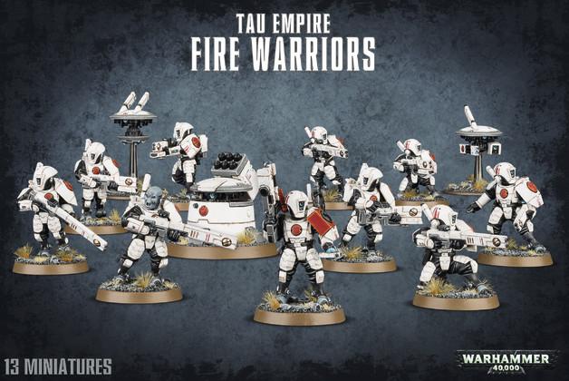 Warhammer 40,000 Tau Empire Fire Warriors / Breacher Team