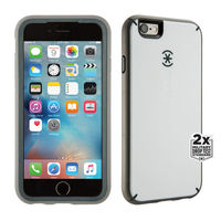 Speck iPhone 6/6s Plus MightyShell Case (White/Slate Grey/Charcoal Grey)