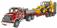 Bruder: Mack Granite Low Loader & JCB Backhoe
