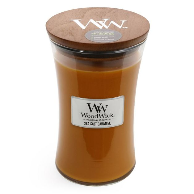 Woodwick Candle - Sea Salt Caramel (Large)