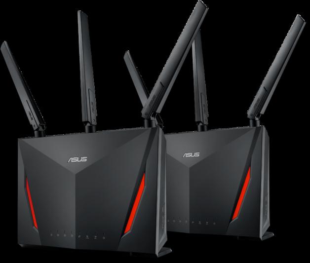 ASUS RT-AC86U Gigabit AC2900 Wi-Fi Gaming Router AiMesh Pack