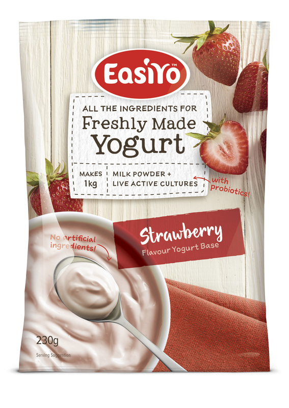 EasiYo: Everyday Range Yogurt Base Strawberry (230g) - 8-Pack