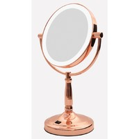 LED Illuminated Vanity Mirror - Rose Gold