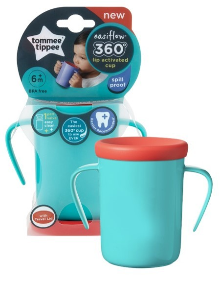 Closer to Nature Easiflow 360 cup Teal 200ml