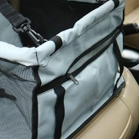 Portable Pet Car Seat - with PVC Support Pipe (Grey)