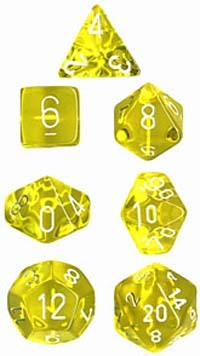 Chessex Translucent Polyhedral Dice Set - Yellow image