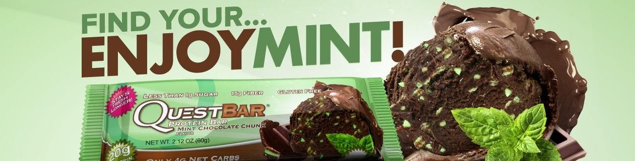 Find your EnjoyMINT with the New Quest bar flavour!