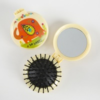 Natural Life: Compact Brush Mirror - Be Happy Elephant