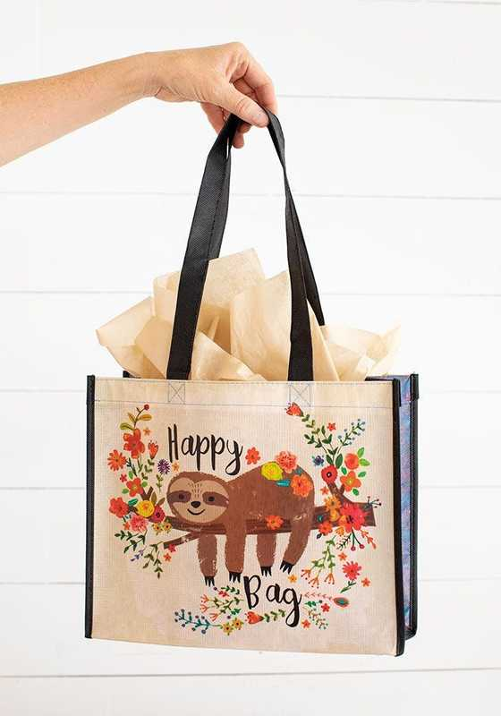 Natural Life: Happy Gift Bag - Sloth Floral (Large)