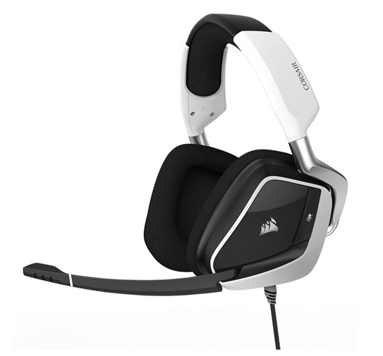 Corsair Void PRO RGB USB Wired Gaming Headset (White) for PC