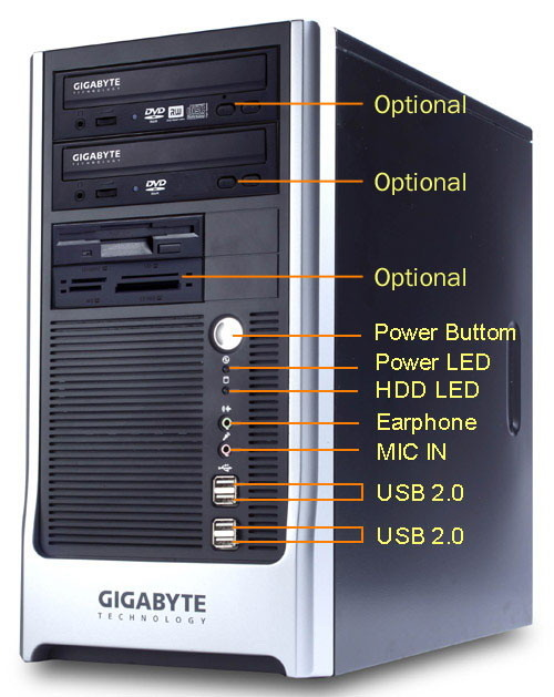 Gigabyte Barebone System G-Max MB91VB2 mATX LGA775