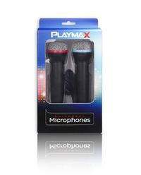 Playmax Wired SINGSTAR Microphones (Double Pack) for PS4