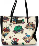 Loungefly Marvel Tattoo Flash Print Tote