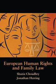 European Human Rights and Family Law by Shazia Choudhry image