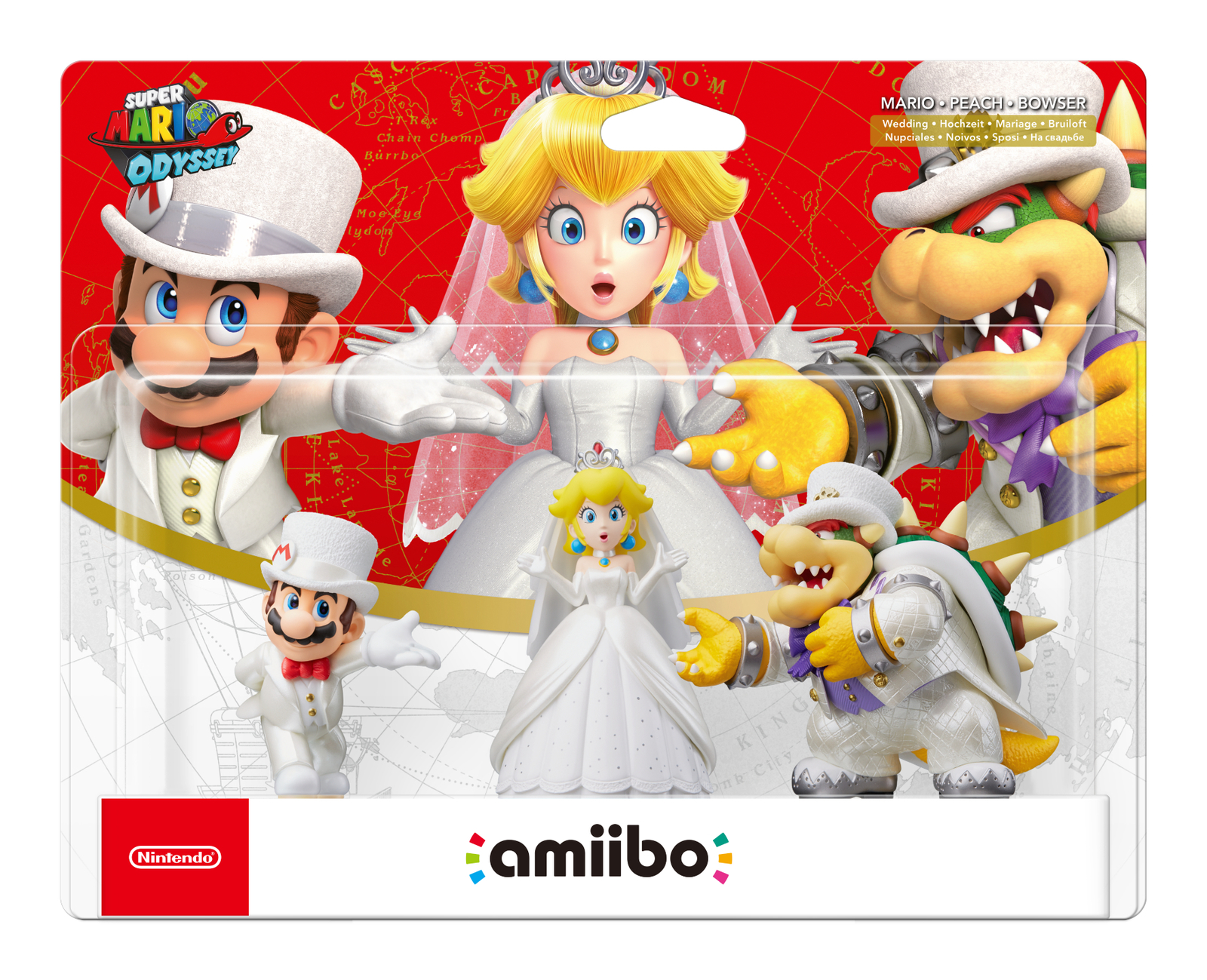 Nintendo Amiibo Mario Odyssey Triple Pack - Super Mario Odyssey Collection for  image