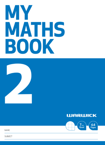 Warwick: My Maths Book #2 - A4+ Exercise Book image