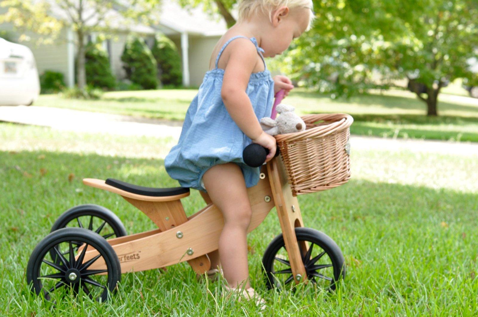 Kinderfeet: Wicker Basket - Balance Bike Accessory image