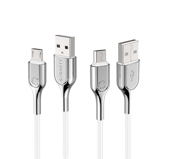 Cygnett: Armored Micro to USB-A Cable 1M -White