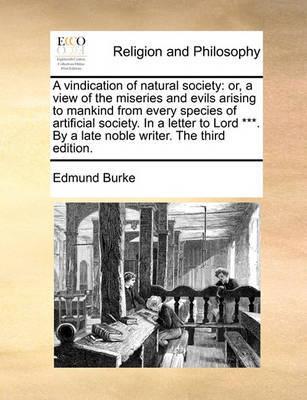A Vindication of Natural Society by Edmund Burke