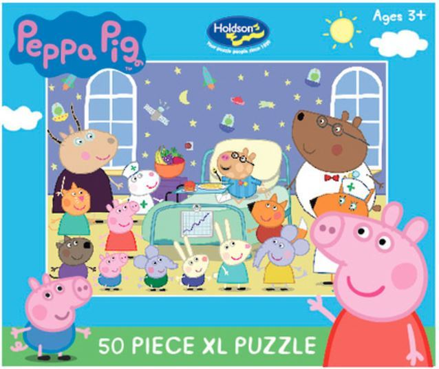 Holdson: Kids Peppa Pig - The Hospital Visit - 50 XL Piece Puzzle image