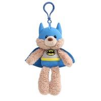 Gund Fuzzy Bear Backpack Clip Batman
