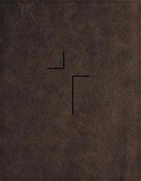 The Jesus Bible, NIV Edition, Leathersoft, Brown, Comfort Print by Zondervan image