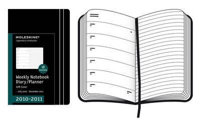 2011 Moleskine Extra Large Weekly Notebook 18 Months Soft by Moleskine image