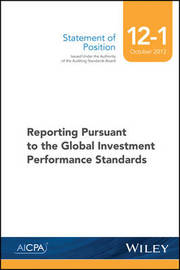 SOP 12-1 Reporting Pursuant to the Global Investment Performance Standards by Aicpa