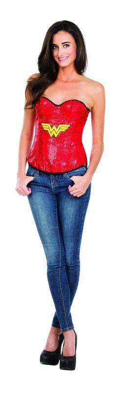 DC Comics: Wonder Woman - Sequin Corset (Medium)