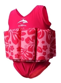 Konfidence Float Suit (Fuchsia Hibiscus) (2-3 Years)