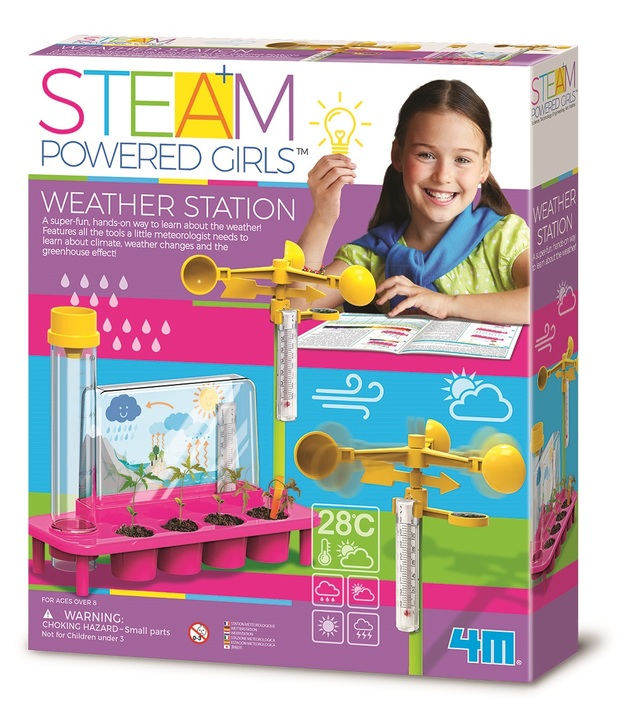 4M STEAM Girls: Weather Station Science Kit