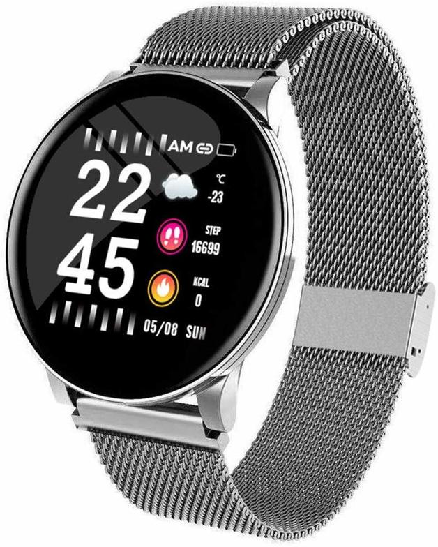 Ape Basics: Smart Watch Heart Rate Monitor- Silver