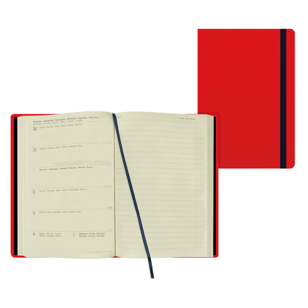 Legami: Medium Weekly 12 Month 2021 Diary with Notes - Red (12 x 18cm)
