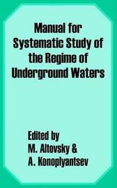 Manual for the Systematic Study of the Regime of Underground Waters image