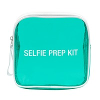 Vinyl Cosmetic Bag: Selfie Prep Kit (Aqua)