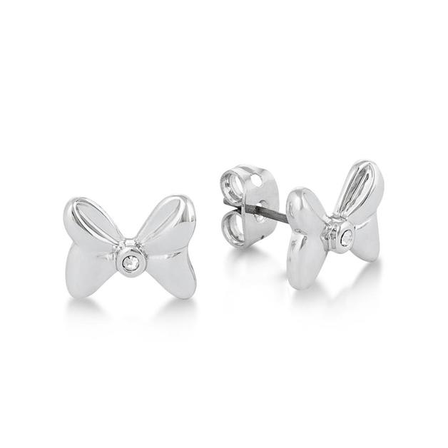 Disney: Crystal Bow Studs- White Gold