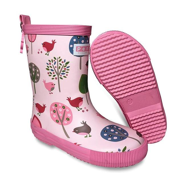 Penny Scallan: Gumboot Tall - Chirpy Bird (Size 27 - Size 9)