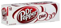 Diet Dr. Pepper Cans (330ml, 12pk)